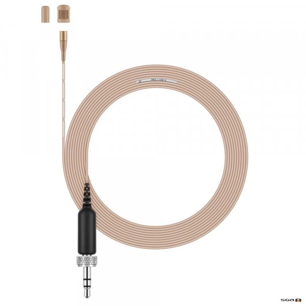 Sennheiser MKE 1-EW-3 (beige) ultra-miniature omni lavalier with 3.3 mm capsule, reduced sensitivity (5 mV/Pa), ultra-thin cable (1.1 mm) and 3.5mm locking connector for evolution wireless.