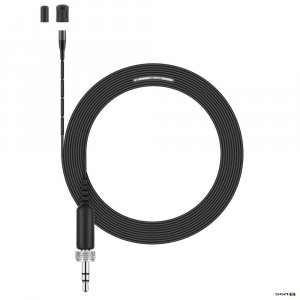 Sennheiser MKE 1-EW Ultra-miniature omni lavalier with 3.3 mm capsule, reduced sensitivity (5 mV/Pa), ultra-thin cable (1.1 mm) and 3.5mm locking connector and 3.5mm locking connector for evolution wireless