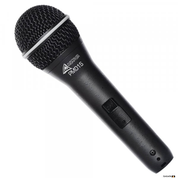 Australian Monitor PMD1S Handheld supercardioid condenser microphone with switch.