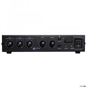 Australian Monitor PICOBLU, 30W Mixer Amp, 3 inputs, 4ohm and 100V outputs.