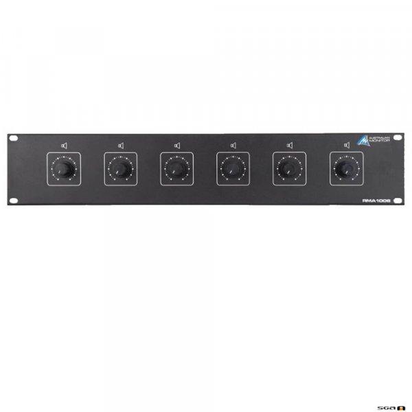 Australian Monitor RMA1006 6x 100W Speaker 10-step Volume Control 2RU Rack mounted
