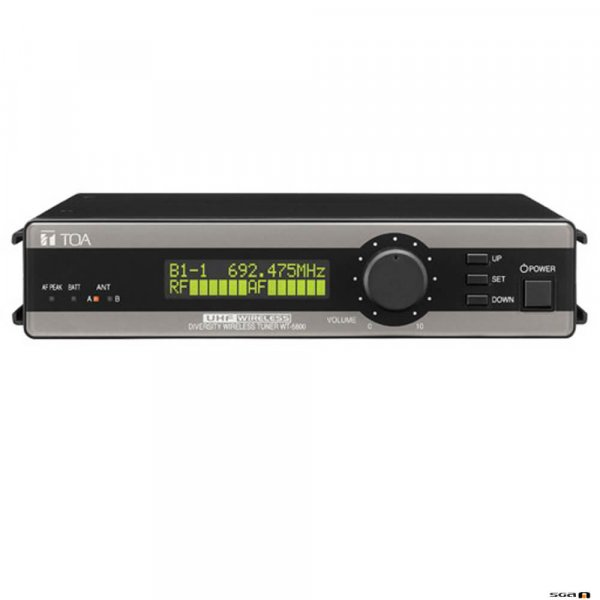 TOA WT5800 is a 64 channel UHF true diversity receiver