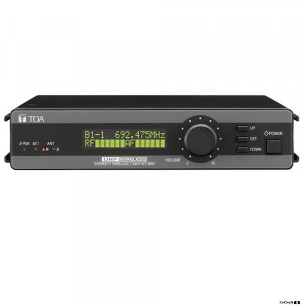 TOA WT5805 is a 64 channel UHF diversity wireless microphone receiver