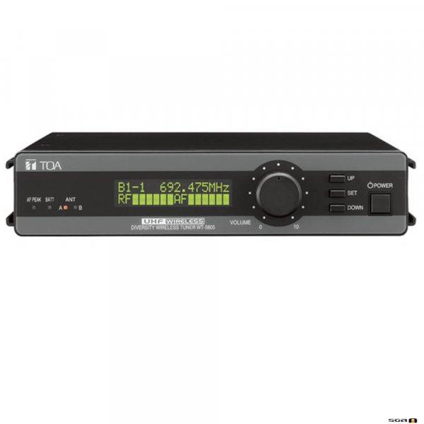 TOA WT5805F01AS UHF Diversity Wireless Receiver. 636-666MHz