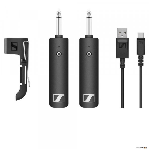 "Sennheiser XSW-D Instrument Base Set w/ 1/4"" plug-on instrument transmitter and 1/4"" plug-in instrument receiver."