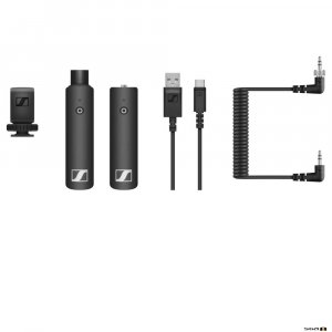 Sennheiser XSW-D Portable Interview Set Wireless Digital with XLR Female TX, Mini Jack RX, Hotshoe Mount, Curled Cable, USB Charging Cable