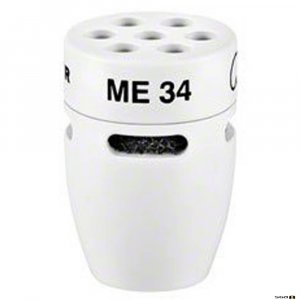 Sennheiser ME34W cardioid condenser microphone head is an incredibly versatile capsule with great acoustic performance. White.