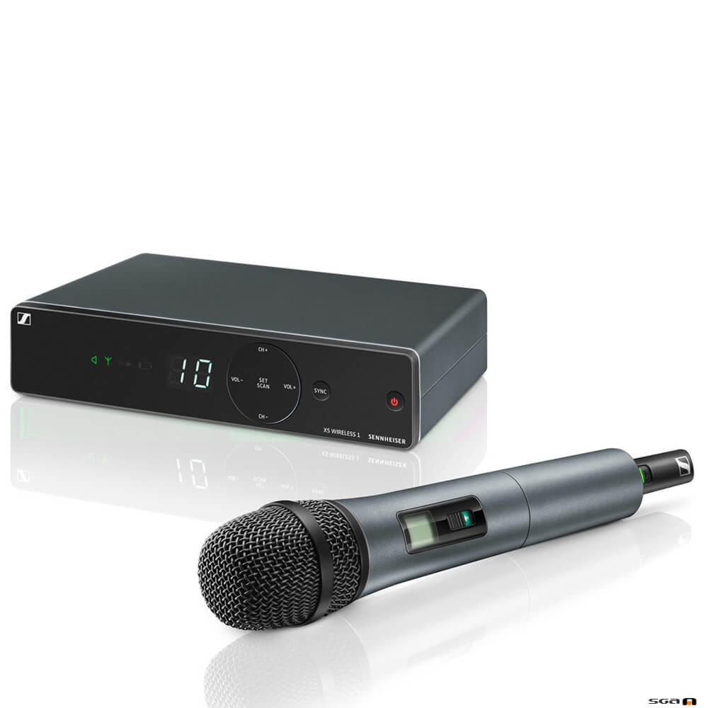 Sennheiser XSW 1-825 wireless microphone system package.
