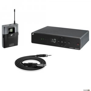 Sennheiser XSW 1-CI1 wireless microphone system package with bodypack and instrument cable.
