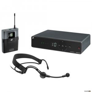 Sennheiser XSW 1-ME3 diversity receiver with bodypack and ME3 Head Microphone.