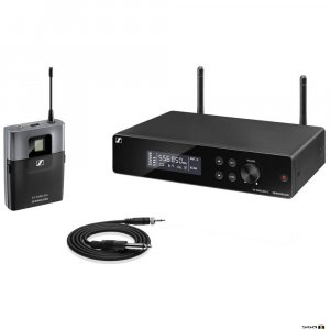 Sennheiser XSW 2-CI1 true diversity wireless microphone system w/ receiver, bodypack, instrument cable