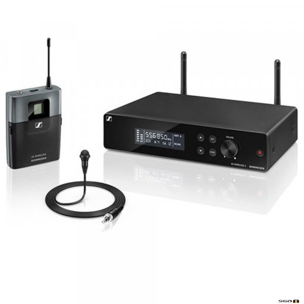 Sennheiser XSW 2-ME2 true diversity wireless microphone receiver with bodypack and ME2 Lapel.