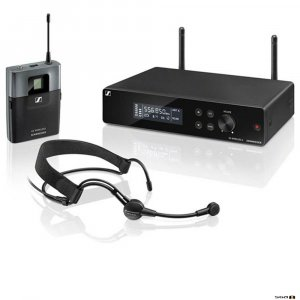 Sennheiser XSW 2-ME3 true diversity wireless microphone system with receiver with bodypack and ME3 Head Microphone.