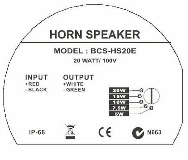 Bosch BCS-HS20E Horn Speaker back
