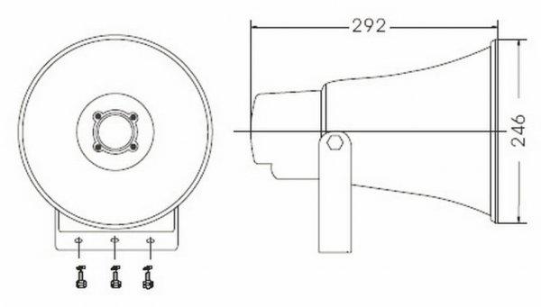 Bosch BCS-HS20E Horn Speaker diagram