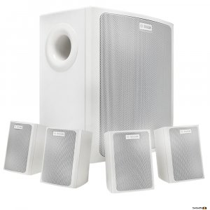 Bosch LB6-100S-L white wall mount background music speaker package