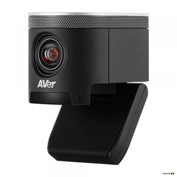 Aver CAM340+ Professional Video Conference Camera side view with base flipped open
