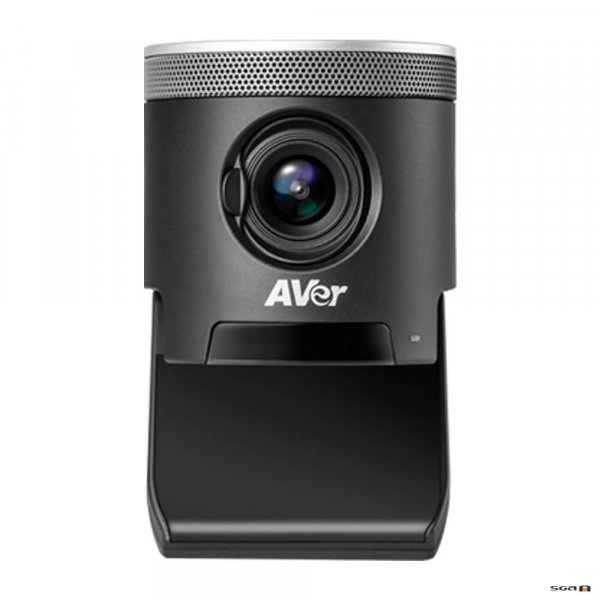 Aver CAM340+ Professional Video Conference Camera front view with base flipped open