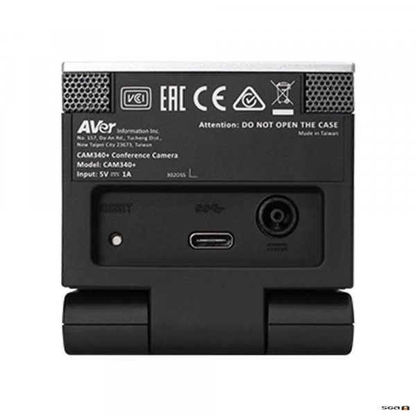 Aver CAM340+ Professional Video Conference Camera rear view