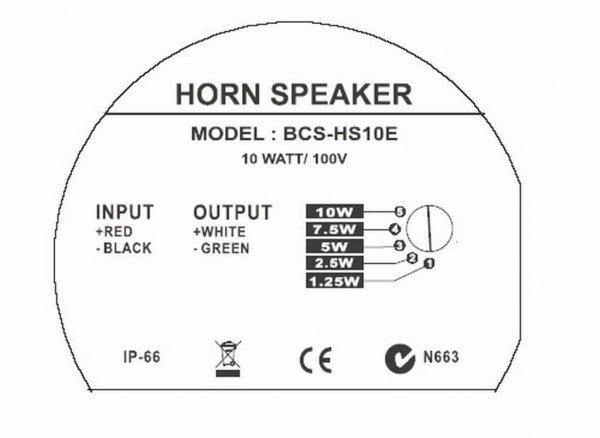 Bosch BCS-HS10E Horn Speaker back