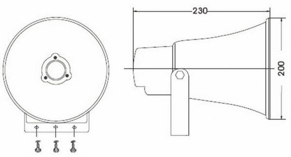Bosch BCS-HS10E Horn Speaker diagram