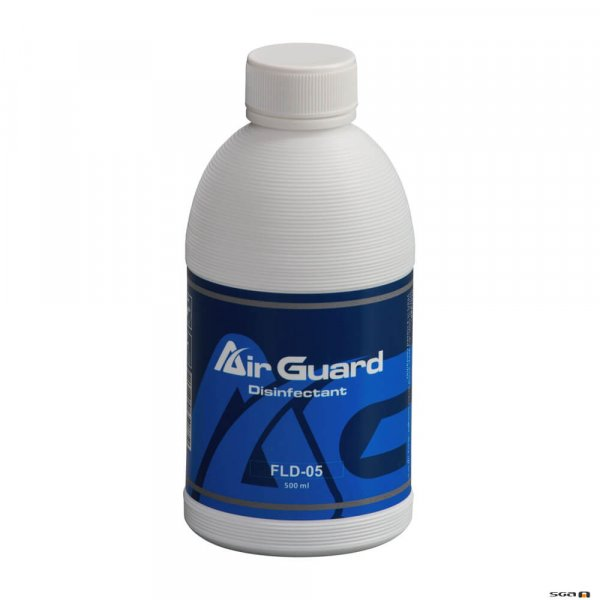 Antari AirGuard FLD05 Disinfection Fluid in a 500ml bottle