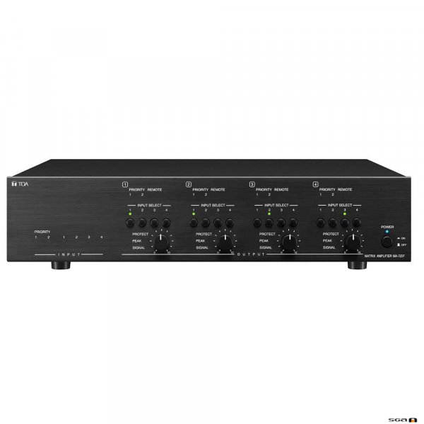 TOA MA725F Matrix amplifier, 6 inputs front