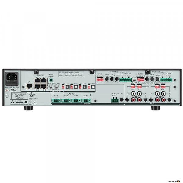TOA MM700F Matrix preamplifier, 6 inputs (2 priority) rear
