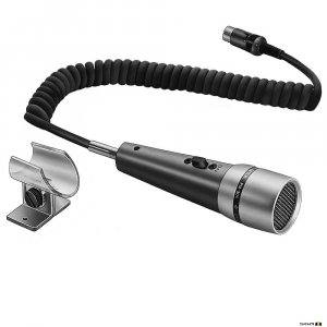 TOA PM306D  Paging Microphone Omni-directional  500 ohm, PTT Switch, coiled 2m cable (DIN plug)
