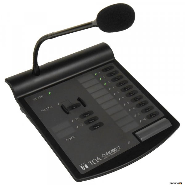 TOA QRM9012P Paging microphone with 12 contact closure outputs