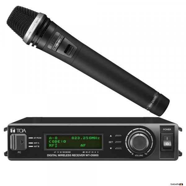 TOA WTD5800HTC Digital UHF Wireless Receiver kit - Receiver and Handheld Microphone