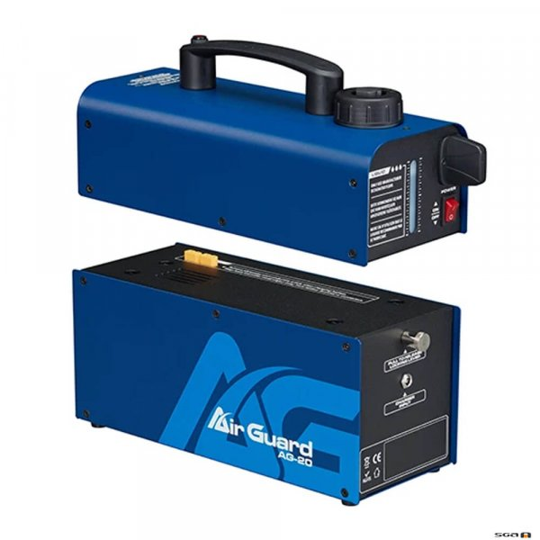 Airguard AG20 Disifection Fog Machine showing battery compartment
