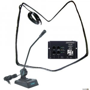 Ampetronic CLD1-CD Compact Loop Driver with Desktop Microphone & Loop Coil.
