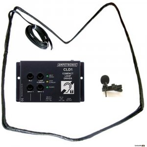 Ampetronic CLD1-CT Compact Loop Driver with Tie Clip Microphone & Loop Coil