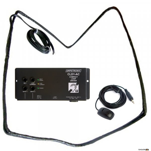 Ampetronic CLD1AC-CB Compact Loop Driver w/ internal PSU, Loop Coil, Boundary Mic.