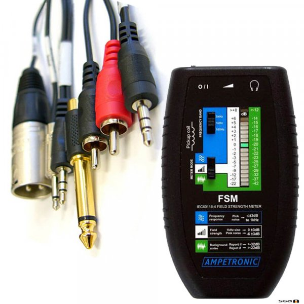 Ampetronic FSM+SCC Field Strength Meter with Signal Connection Cables