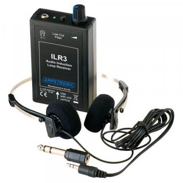 Ampetronic ILR3 Loop Receiver w/ Stereo Headphones i