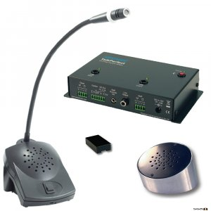 Ampetronic TP-KIT2 TalkPerfect Installation Kit includes Amplifier POD Speaker, PZM Mic and Combi Unit