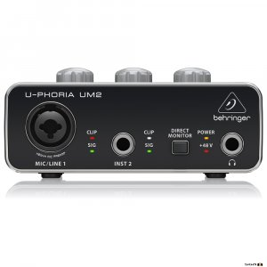 Behringer UM2 Audiophile 2x2 USB Audio Interface front
