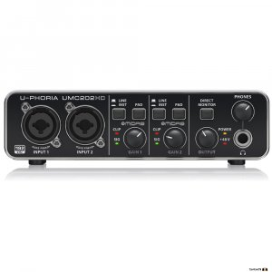 Behringer UMC202HD Audiophile 2x2, USB Audio Interface front