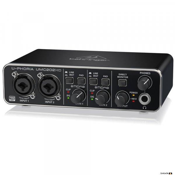 Behringer UMC202HD Audiophile 2x2, USB Audio Interface right