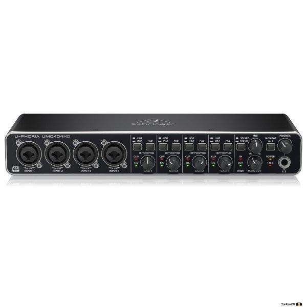 Behringer UMC404HD Audiophile 4x4, 24-Bit/192 kHz USB Audio/MIDI Interface with MIDAS Mic Preamplifiers top
