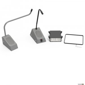Contacta STS-K035-G-RH Curved Right Microphone Kit - Grey,
