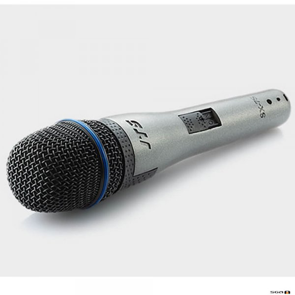 JTS SX-7S wired mic with switch, for instrument or vocals. With three-pin professional audio connector (male XLR type)