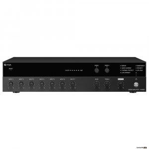 TOA A3606D 60W 2 zone digital mixer amp, 7 input, selectable phantom power, 100 volt line / 8-16 ohm.