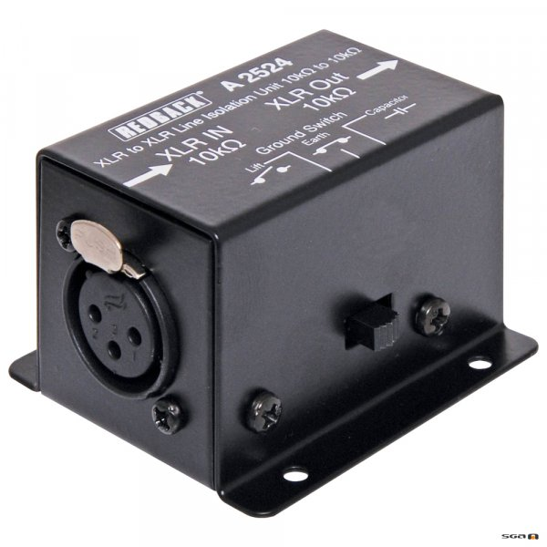 Redback A2524 Line Isolation Transformer 10k ohms to 10k ohms XLR