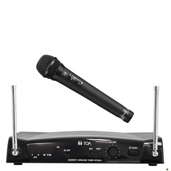 TOA WS5265 16 Channel Diversity Wireless Microphone Receiver pack w/ WT5810 Receiver, dynamic microphone WM5265. Available in 636-666MHz or 578-606MHz.