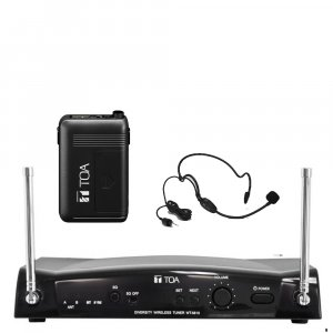 TOA WS5325H 16 Channel Diversity Wireless Microphone Receiver pack w/ WT5810 Receiver, WM5325 Beltpack Transmitter, WH4000H Head Microphone. Available in 636-666MHz or 578-606MHz.