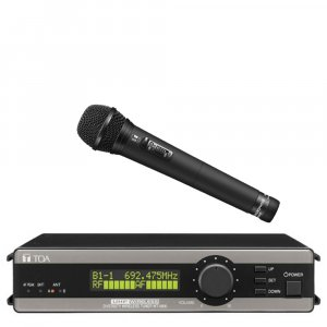 TOA WT5800HTD UHF True Diversity Wireless Receiver w/ dynamic microphone WM5265. Available in 636-666MHz or 578-606MHz.
