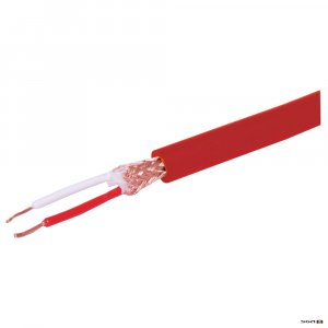 w3026 100m. 2 Core Heavy Duty Microphone Cable available in Red, Blue or Black.